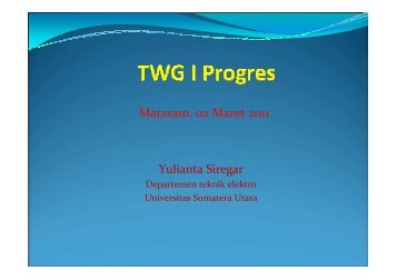 presentation NorthSumatra_TWG 1 - Casindo