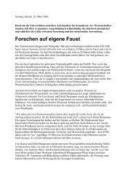 Forschen auf eigene Faust - Uwe Roth
