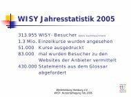 WISY Jahresstatistik 2005 - Hamburgs Kursportal WISY