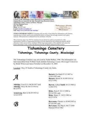 Tishomingo Cemetery