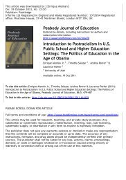to view the authors' lead article for this special issue - College of ...