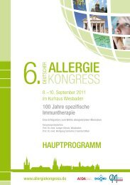 Allergie - Deutscher Allergiekongress