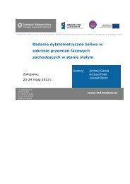 Referat 8 - Badania i rozwój nowoczesnej technologii tworzyw ...