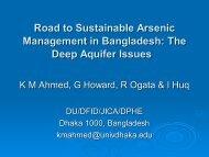 The Deep Aquifer Issues - Harvard University Department of Physics