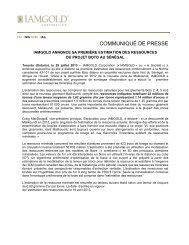 Télécharger le communiqué de presse (PDF 63 KB) - Iamgold