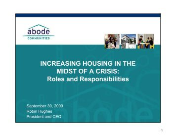 INCREASING HOUSING IN THE MIDST OF A CRISIS - Abode ...