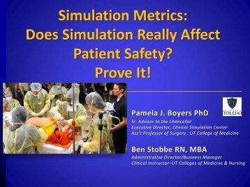 Pamela J. Boyers PhD - Human Patient Simulation Network