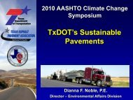 TxDOT's Sustainable Pavements: Low Carbon Materials/Alternative ...