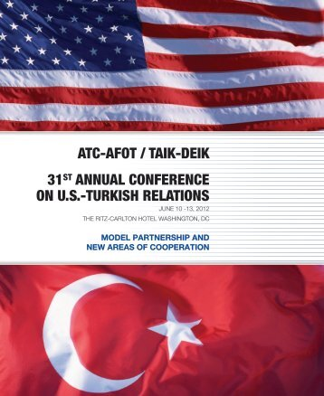 31st Annual Conference on US-Turkish Relations - American ...