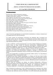 COMPTE RENDU DE LA SIXIEME REUNION ... - Webagoo.eu