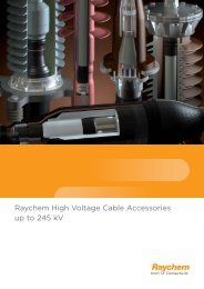 Raychem High Voltage Cable Accessories up to 245 kV - Dielectro ...