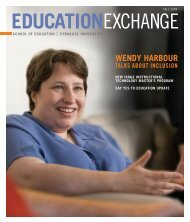 Fall 2009 - School of Education - Syracuse University