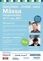 RENGÖRING - HYGIEN - GOLV 16/17 nov. 2011 - SRTF