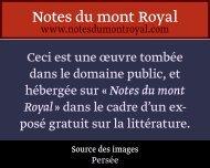 10 - Notes du mont Royal