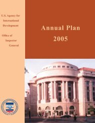 FY05 Annual Plan - US Agency For International Development ...