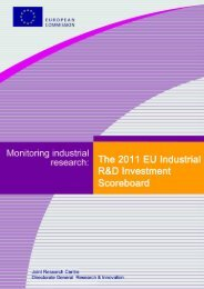 EU Industrial R&D Investment Scoreboards 2011