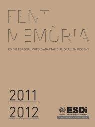 Memoria 2011-2012 (curs pont) - ESDi