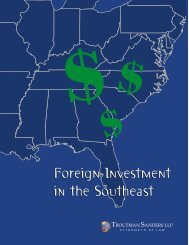 Foreign Investment in the Southeast - Troutman Sanders LLP