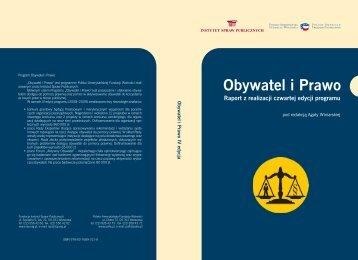 Obywatel i Prawo. Raport z realizacji czwartej edycji programu.
