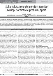 Sulla valutazione del comfort termico sviluppi normativi e ... - Ispesl
