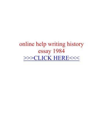 Help with 1984 essay