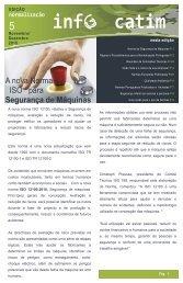 A nova Norma ISO para Segurança de Máquinas - CATIM