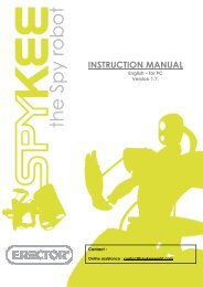 INSTRUCTION MANUAL - Spykee