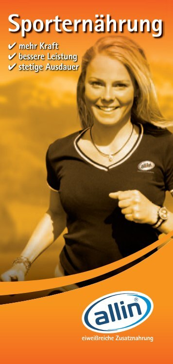 Sporternährung - Allin-trinknahrung.com