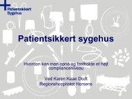 Karen Dodt, Regionshospitalet Horsens - Sikker Patient