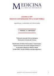 Legionella SPP: rischio di contaminazione per le acque termali