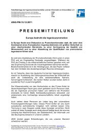 Europa bedroht die Ingenieurpromotion - 4Ing