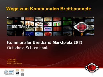 Wege zum Kommunalen Breitbandnetz - Kommunaler Breitband ...