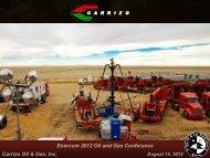 Enercom Denver 2012 Presentation - Carrizo Oil & Gas, Inc