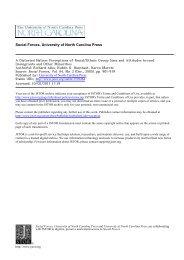 Social Forces, University of North Carolina Press - Great White Desert