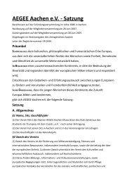 AEGEE Aachen e.V. - Satzung