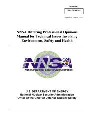 NNSA Differing Professional Opinions Manual for Technical Issues ...