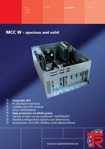 MCC W - spacious and solid - TR Electronic