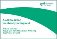 A call to action on obesity in England - UK Faculty of Public Health