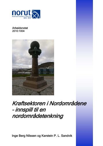 the narvik renewable energy community. - Norut