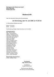 Niederschrift - Biedermannsdorf