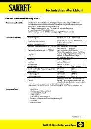 SAKRET Dünnbeschichtung PUB 1 - SAKRET GmbH