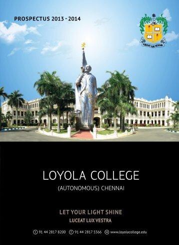 Prospectus (2013-2014) - Loyola College