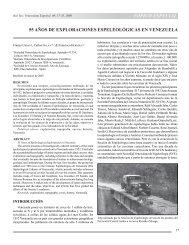 tópico especial 55 años de exploraciones espeleológicas ... - SciELO