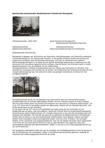 Bijlage 6 Beschermd dorpsgezicht Kom Moergestel