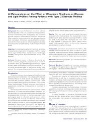 A Meta-analysis on the Effect of Chromium Picolinate on Glucose ...