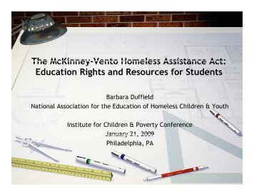 The McKinney Vento Homeless Assistance Act - Beyond Housing ...