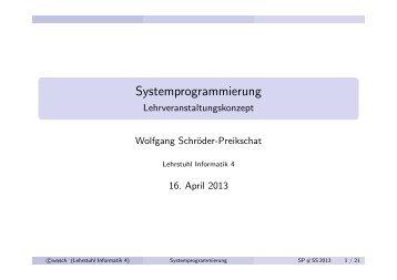 Systemprogrammierung - CS 4