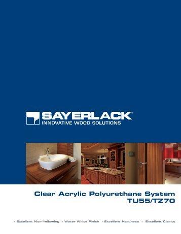 Clear Acrylic Polyurethane System TU55/TZ70
