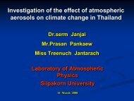 การศึกษาผลของ aerosols - JGSEE