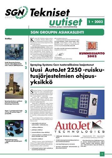 Tekniset Uutiset 1/2002 - SGN Tekniikka Oy